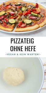 Gut bekannt Schneller Pizzateig ohne Hefe | Elephantastic Vegan XS52