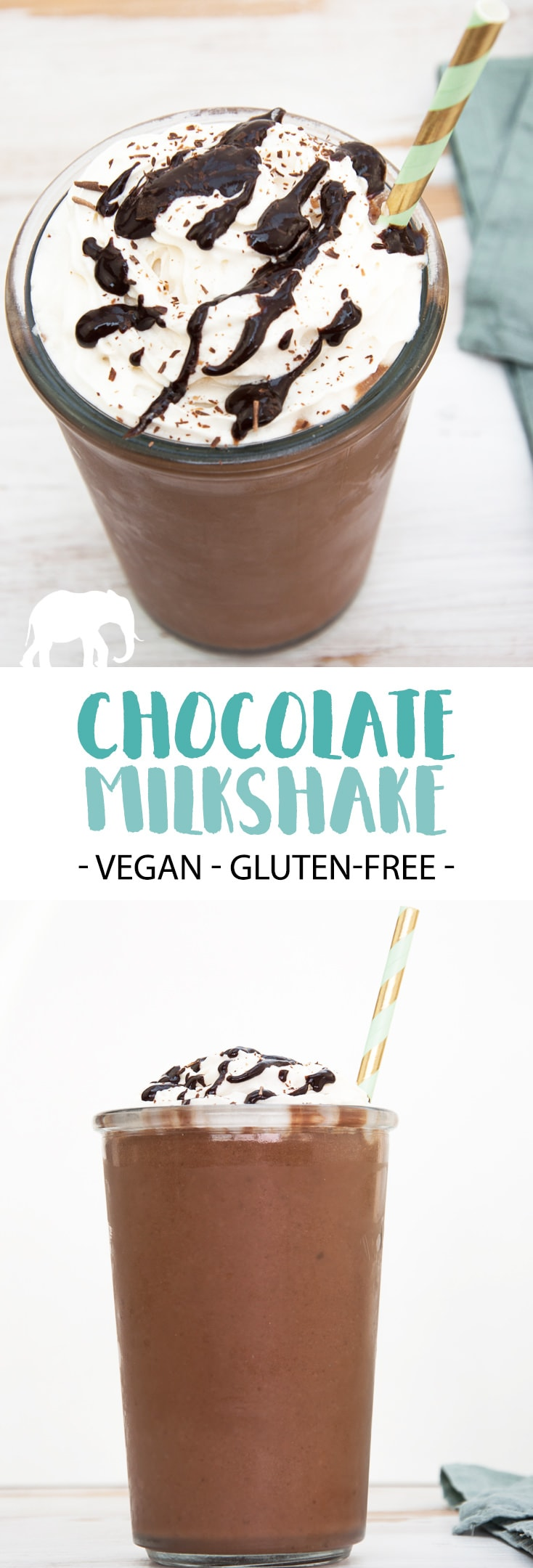 Chocolate Milkshake - vegan and gluten-free #chocolate #milkshake #vegan #plantbased #dairyfree #sweet #dessert #summer #glutenfree | ElephantasticVegan.com