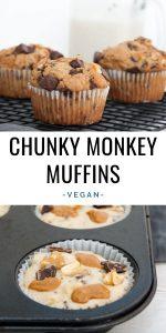 Vegan Chunky Monkey Muffins