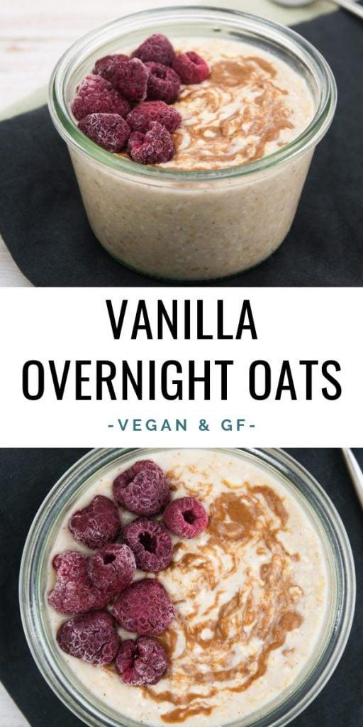 Vegan Vanilla Overnight Oats