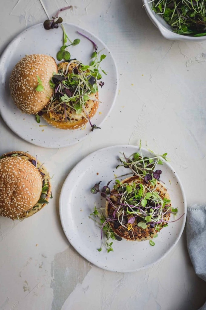 Quinoa and Cauliflower Burger