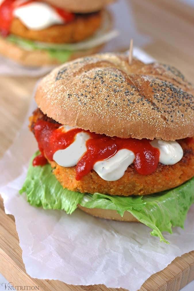 Sriracha Veggie Burger
