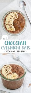 Healthy Vegan Chocolate Overnight Oats