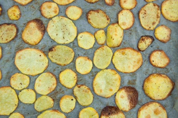 Oven Baked Potato Slices Recipe Elephantastic Vegan