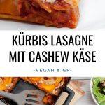 Kürbis Lasagne mit Cashew Käse