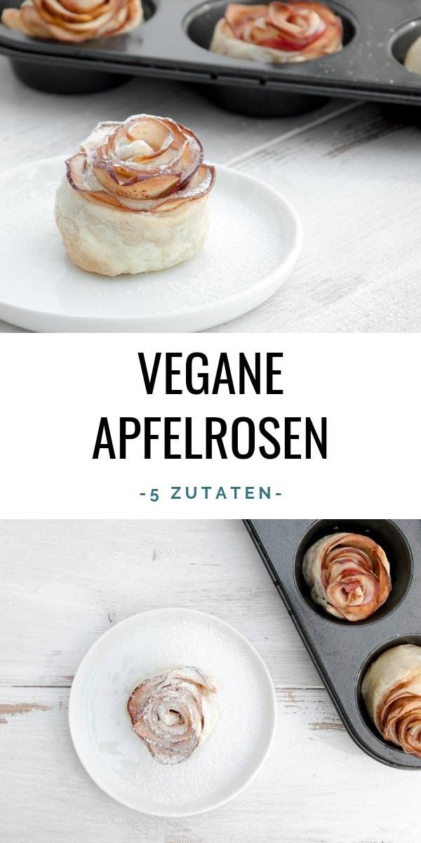 Vegane Apfelrosen