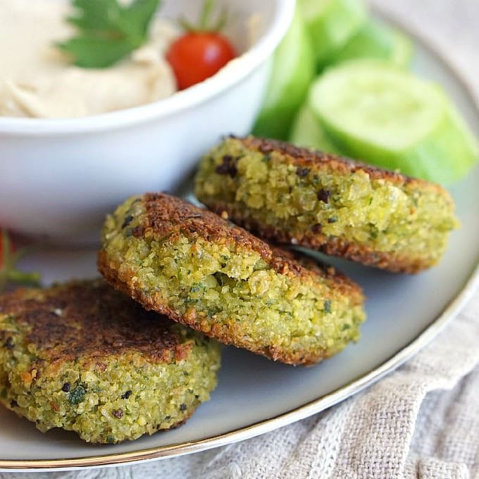 Falafel made with dried chickpeas