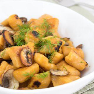 2-Ingredient Sweet Potato Gnocchi (vegan)