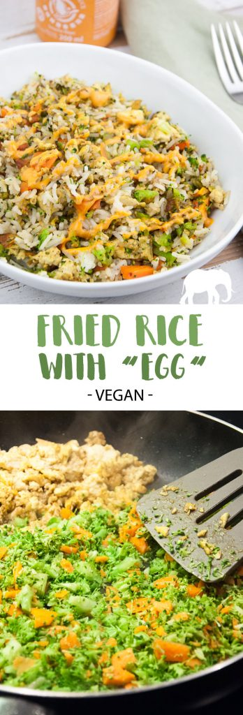 "Vegan Fried Rice with ""Egg"" Tofu Scramble"