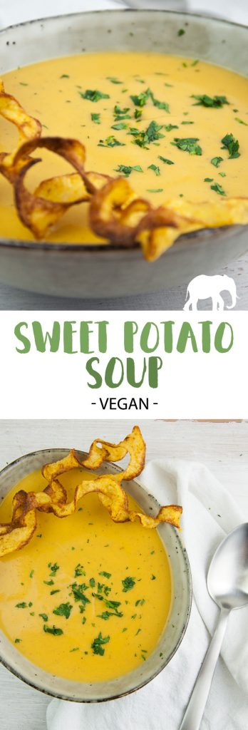 Vegan Sweet Potato Soup with Coconut Milk