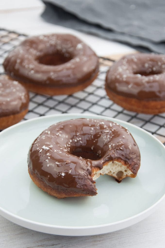 Chocolate Coconut Donuts