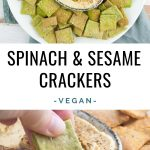 Vegan Spinach & Sesame Crackers