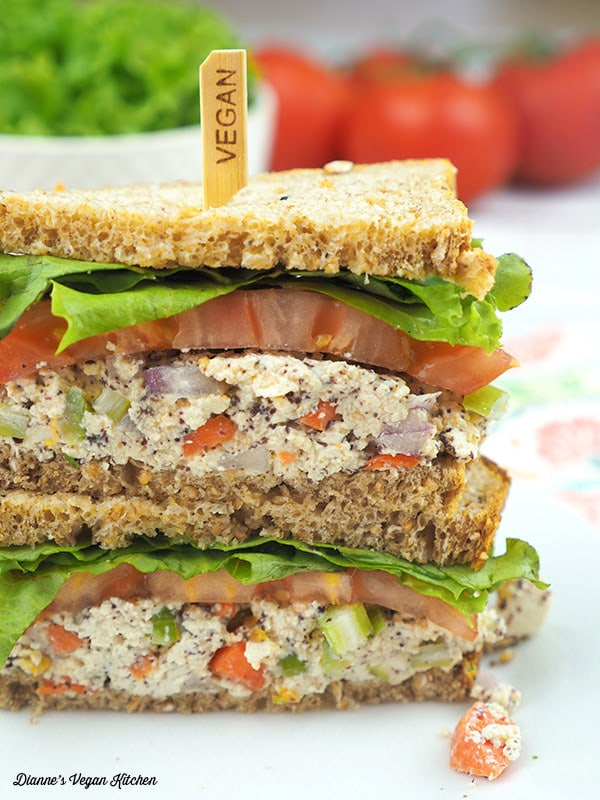Tofu Tuna Salad Sandwich