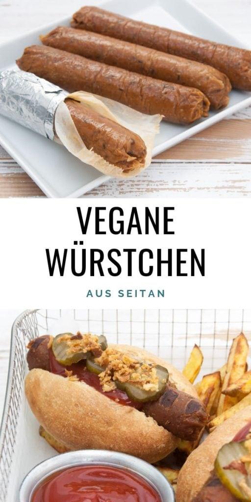 Vegane Würstchen aus Seitan