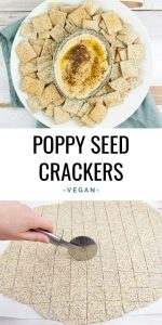Vegan Poppy Seed Crackers