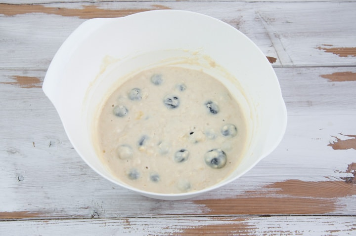 vegan blueberry pancake batter