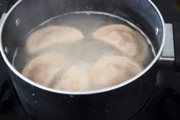 cooking vegan pierogi