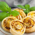 Vegan Pizza Pinwheels with olives