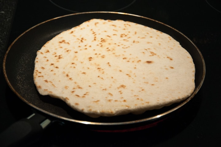 naan in the pan