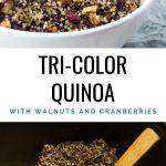 Tri-Color Quinoa with walnuts and cranberries