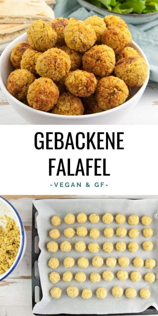 Gebackene Falafel