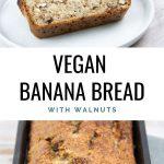 Vegan Banana Bread with walnuts
