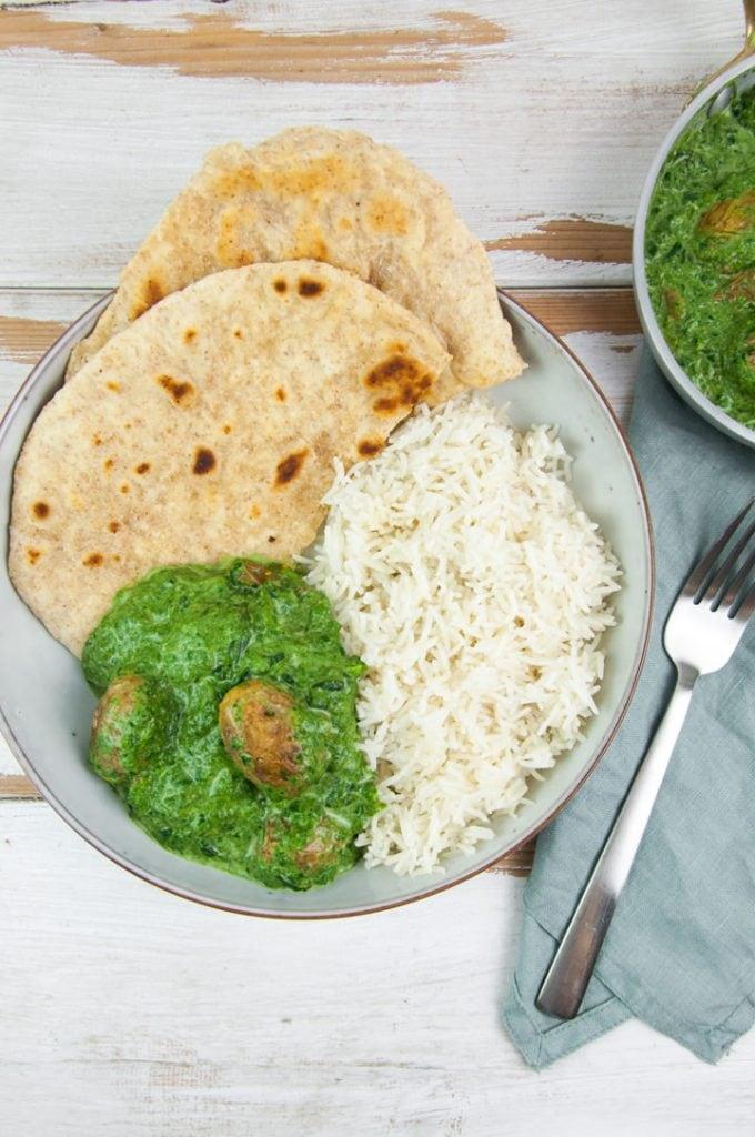 Aloo Palak Potato Spinach Curry