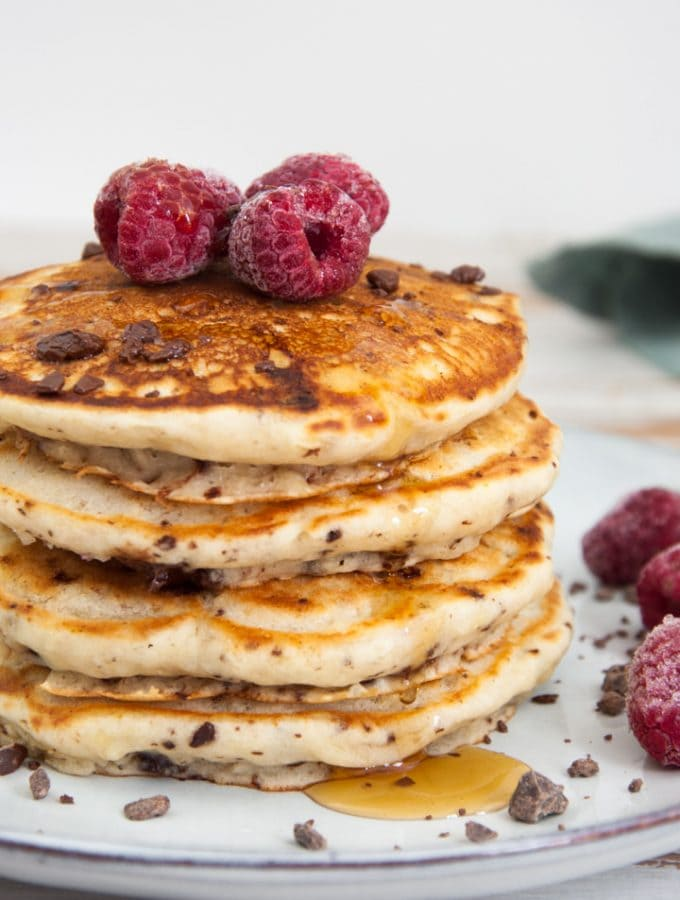 Chocolate Raspberry Pancakes