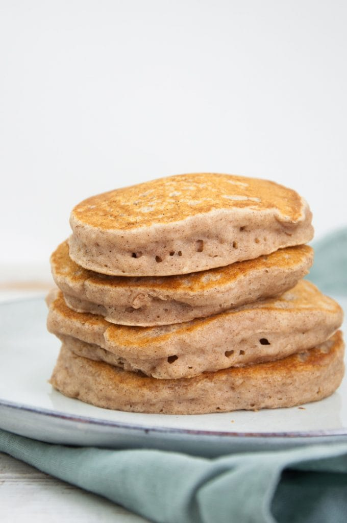stacked applesauce pancakes