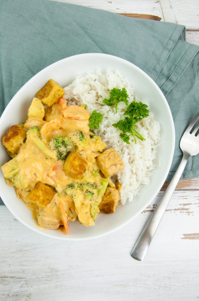 Tofu Curry with Cashew Sauce