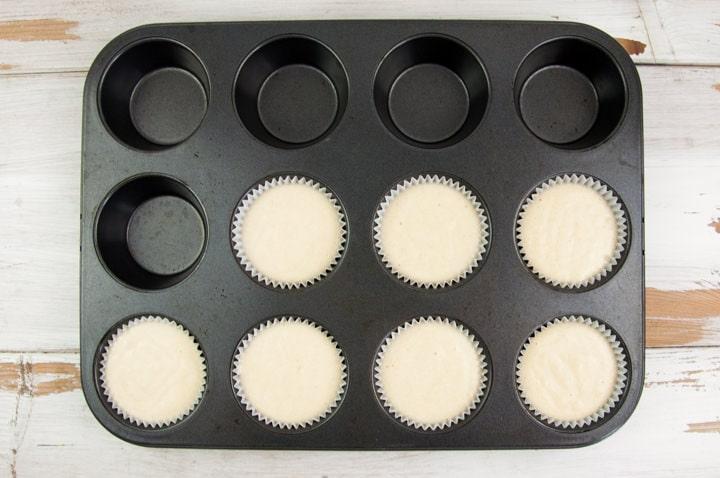 lemon muffins before baking
