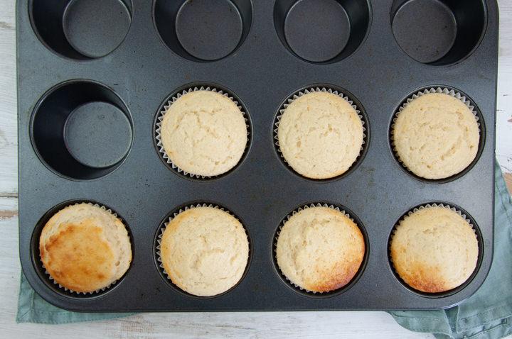lemon muffins after baking