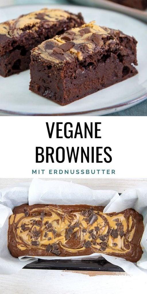 Vegane Brownies mit Erdnussbutter