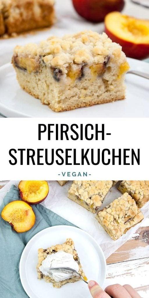 veganer pfirsich-streuselkuchen