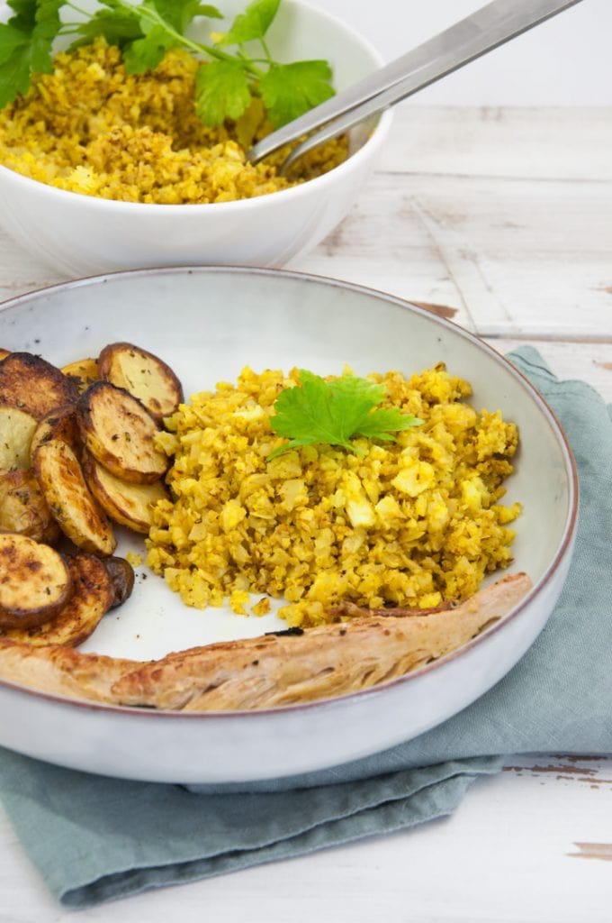 Golden Cauliflower Rice