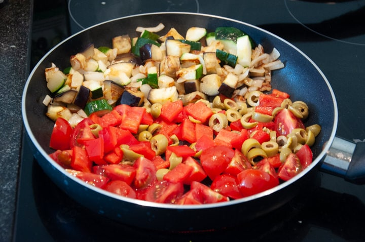 veggies in a pan