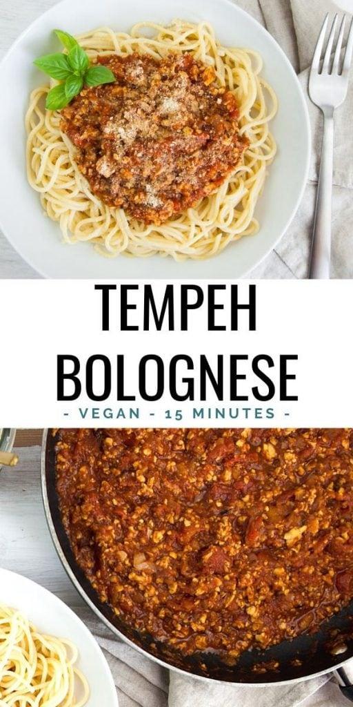 Vegan Tempeh Bolognese