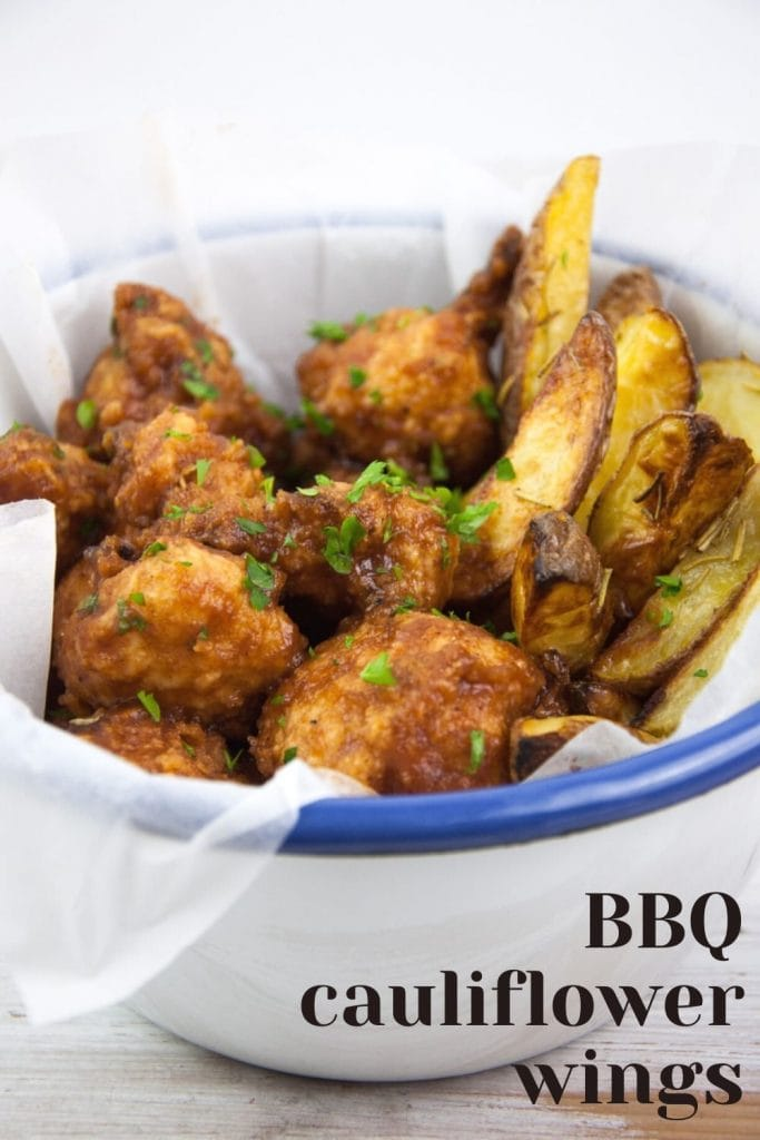 Baked BBQ Cauliflower Wings