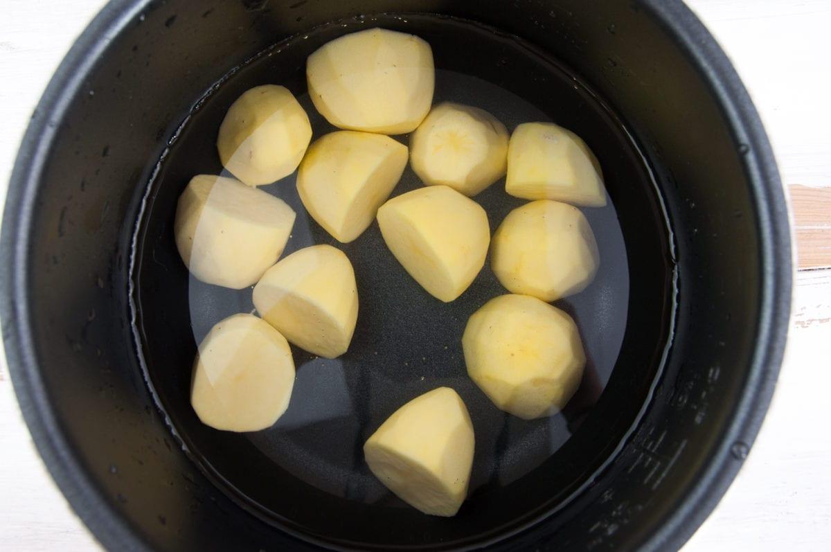 potatoes in water