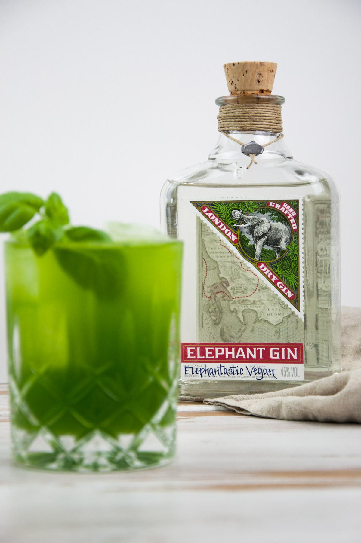 Gin Basil Smash with Elephant Gin