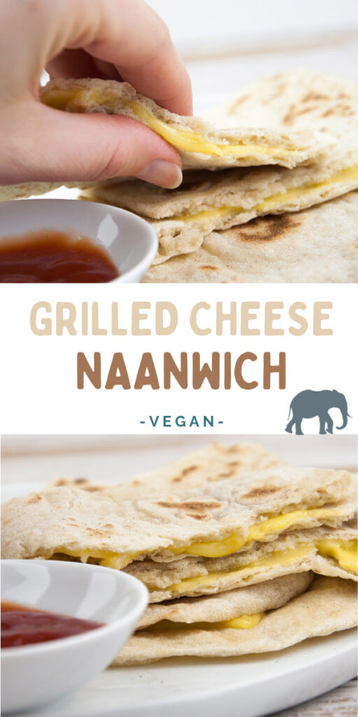 Vegan Grilled Cheese Naanwich