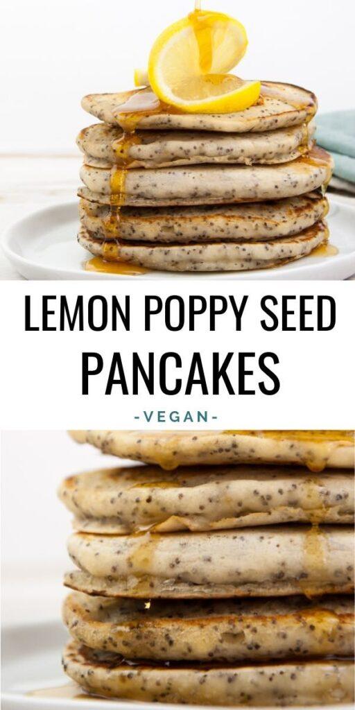 Vegan Lemon Poppy Seed Pancakes