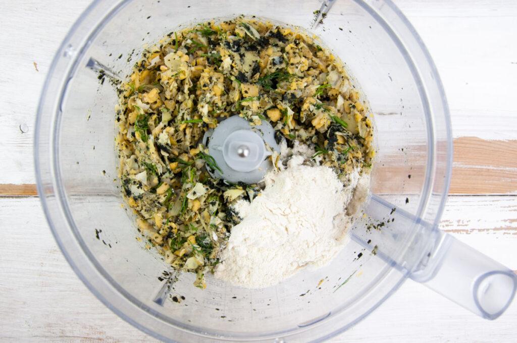 vegan crab cake mixture