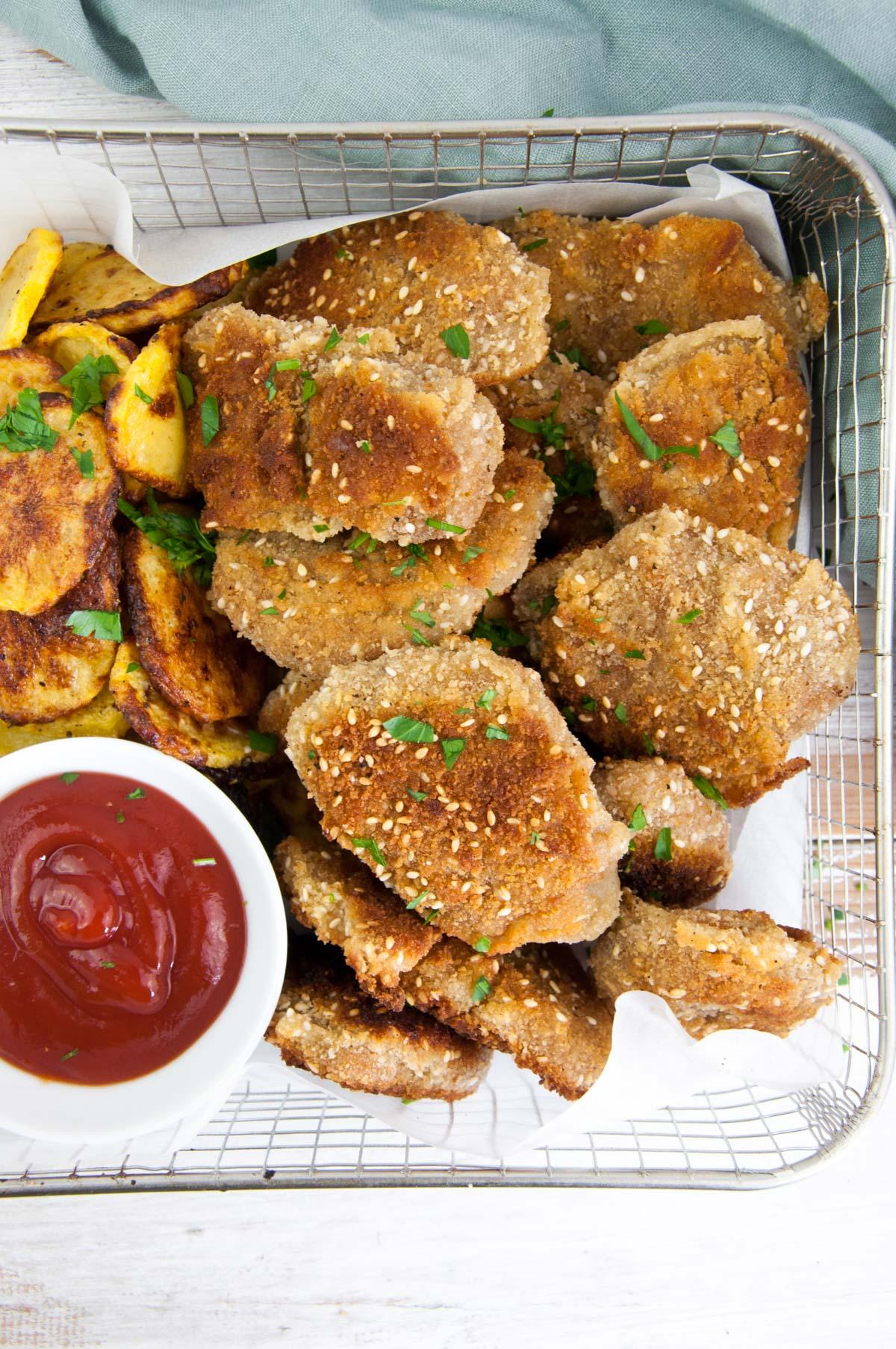 Seitan Chicken Nuggets