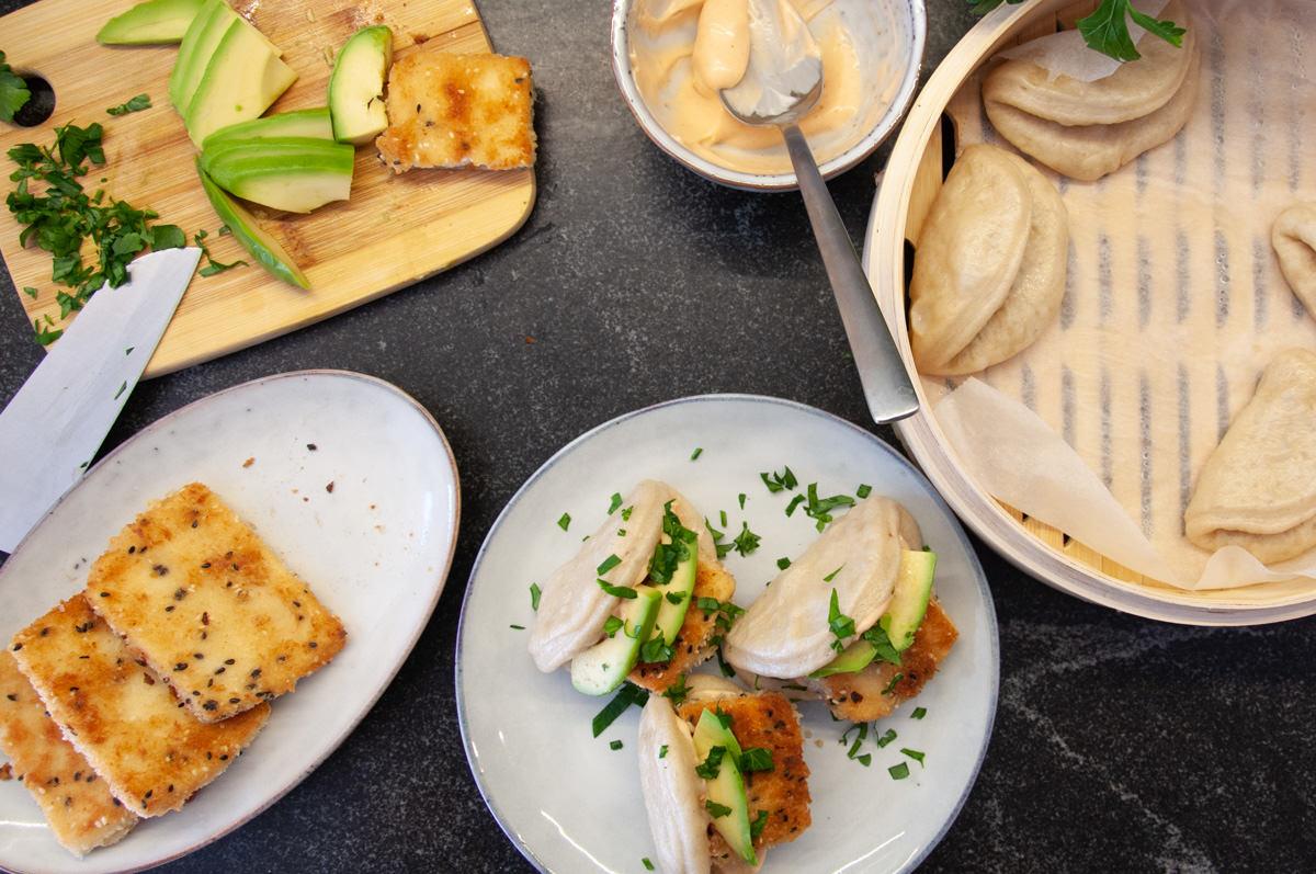 tofu katsu in bun bao
