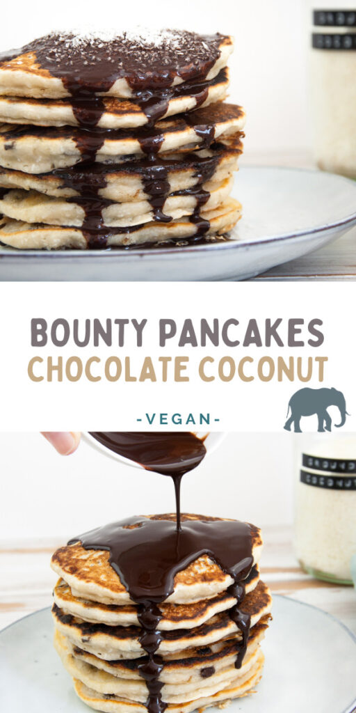 Vegan Chocolate Coconut Pancakes (Bounty)